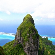 A point in the Pacific, Bora Bora, the most surprising island of the planet